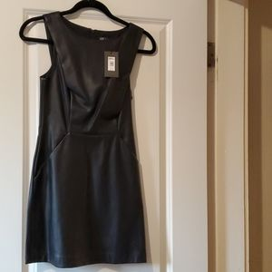 A/X brand new black leather dress